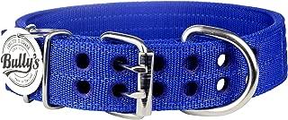 Pitbull Collar, Dog Collar for Large Dogs, Heavy Duty Nylon, Stainless Steel Hardware