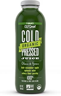 7-Select Organic Cold Pressed Juice - Clean & Green (14 Oz, 6-Pack)