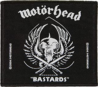 Motorhead Patch Bastards Band Logo Official Woven (10Cm X 10Cm)