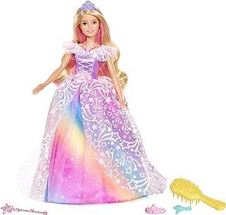 Barbie Dreamtopia poupée Princesse de Rêves avec robe brillante à motifs arc-en-ciel, fournie avec brosse et accessoires, ...
