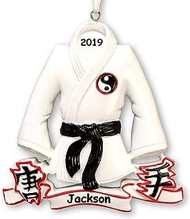 Personalized Karate Martial Arts Uniform Jacket Belt Christmas Ornament Holiday Decoration - Custom Name and Year