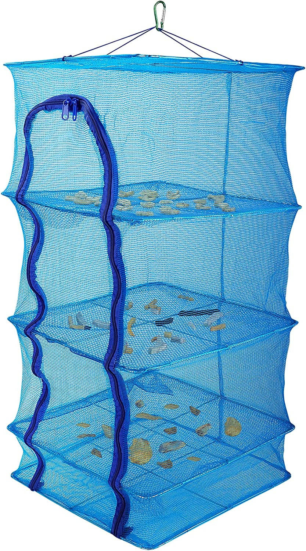 Wjiang Herb Drying Rack Max 71% OFF Fish Folding Spasm price 3 Layers Net