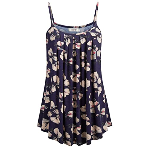 1a881b61755 BEPEI Women Loose Casual Summer Pleated Flowy Sleeveless Camisole Tank Tops
