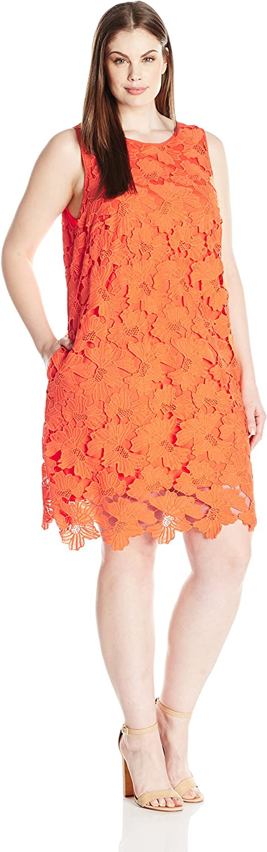 Julia Jordan Womens PlusSize Lace Shift Dress Dress