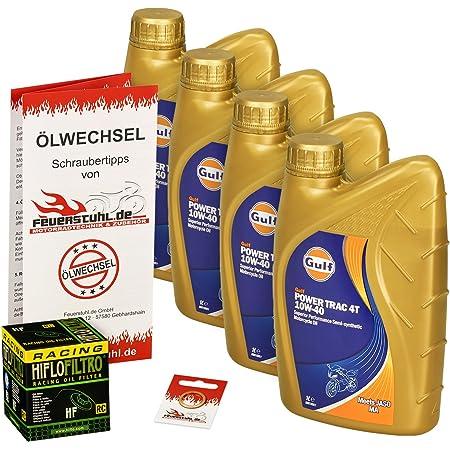 Gulf 10w 40 Öl Hiflo Ölfilter Für Yamaha Yzf R1 Sp 02 06 Rn09 Rn12 Ölwechselset Inkl Motoröl Racing Filter Dichtring Auto