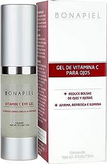 Gel Vitamina C Para el Contorno de Ojos - Corrector De Ojeras, Reduce Bolsas De Ojos, Combate Arrugas y Líneas de Expresión