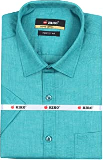 RIRO Mens INSPIRE Cotton Skin Colour Shirt/Formal Shirt Shirt/Traditional Shirt/Shirt for Special Occasion