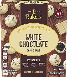 Baker's White Chocolate No Bake Cookie Balls Dessert Kit, 8.6 oz Box