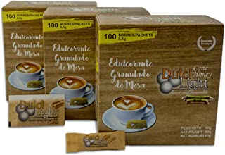DULCILIGHT CAÑA Total 300 Sobres, EDULCORANTE con el Sabor Natural del Azúcar Moreno Granulado Gourmet
