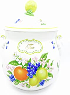 Lenox Orchard Canister,porcelain,1993 (Tea Canister)