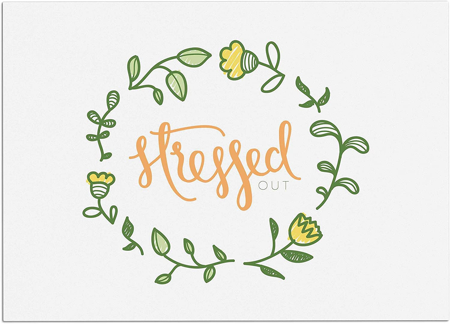 KESS InHouse BP1006ADM02 Busy Bree Stressed Out Green Floral Dog Place Mat, 24 x15