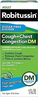Robitussin Sugar-Free Dye-Free Cough + Chest Congestion DM Adult Relief Liquid 4 Fl Oz Box