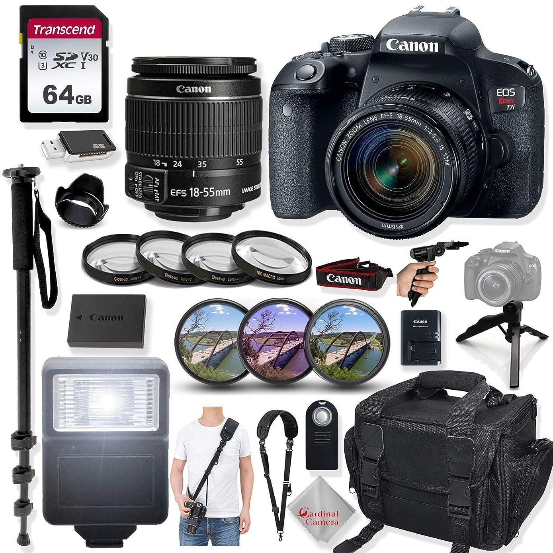 Canon EOS Rebel T7i DSLR Camera with 24.2 Megapixels, 18-55mm Lens, Quick Release Shoulder Strap, Monopod, Gripster Tripod & Prime Accessory Bundle