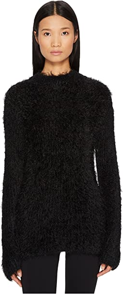 McQ - Faux Fur Crew Neck