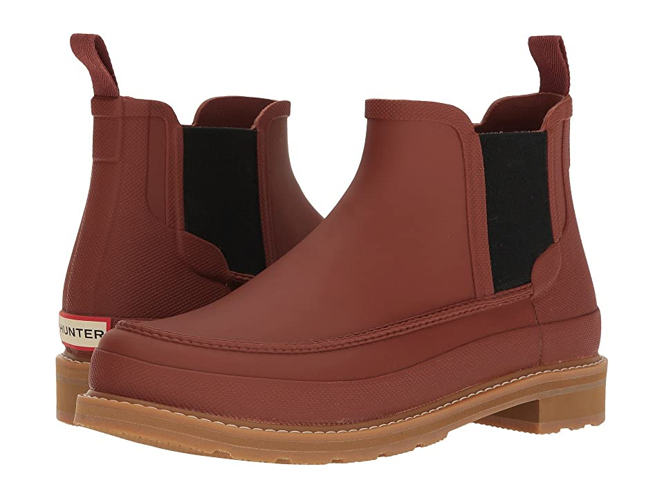 Hunter Original Moc Toe Chelsea Boots (Burnt Sienna) Men