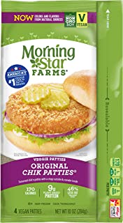 Morningstar Farms, Veggie Burgers, Original Chik Patties, Vegetarian, 10 oz (4 Count)