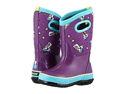 Bogs Kids Classic Design A Boot Unicorns (Toddler/Little Kid/Big Kid) (Purple Multi) Girls Shoes