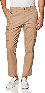 Amazon Essentials Men's Straight-Fit Stretch Cargo Trousers