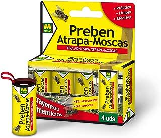 PREBEN 231277 Tira atrapa-Moscas 4 un, Amarillo, 9.1x11x2.2