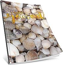 Dékokind® Bullet Journal: Ca. A4-Format • 100 Seiten, Punktraster Notizbuch mit Register • Dot Grid Notebook, Punktkariertes Papier, Skizzenbuch • ArtNr. 19 Muscheln • Vintage Softcover
