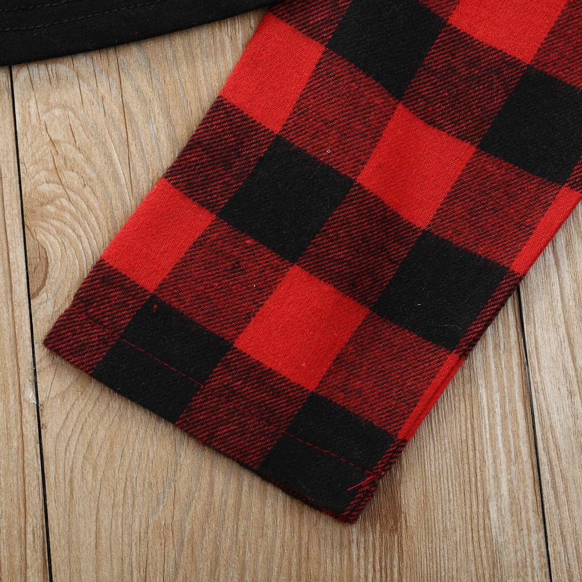 Schal//Stirnband Weihnachten Outfits Sets Verve Jelly Baby M/ädchen Weihnachten Outfits Kleinkind Kinder Weihnachten Schneemann Langarm Tops Bedruckte Lange Hosen