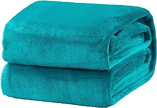 Bedsure Fleece Blanket Twin Size Teal Lightweight Throw Blanket Super Soft Cozy Microfiber Blanket