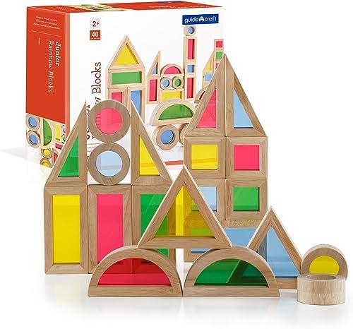 buen precio Guidecraft Bloques Arco Iris Jr., Kit de de de 40 Piezas G3083  punto de venta