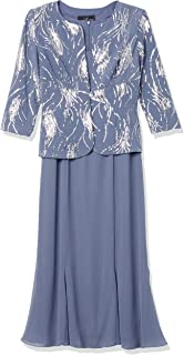فستان Alex Evenings نسائي طويل من الساتان مزين بالترتر (مقاس صغير وعادي)