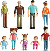 Beverly Hills Doll Collection Sweet Li'l Family Dollhouse People Set of 9 Action Figure Set - Grandpa, Grandma, Mom, Dad, ...