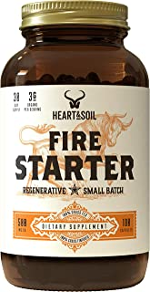 Heart & Soil Firestarter Supplement — High Stearic Acid Grass Fed Tallow from Suet to Support Healthy Weight, Energy, and ...