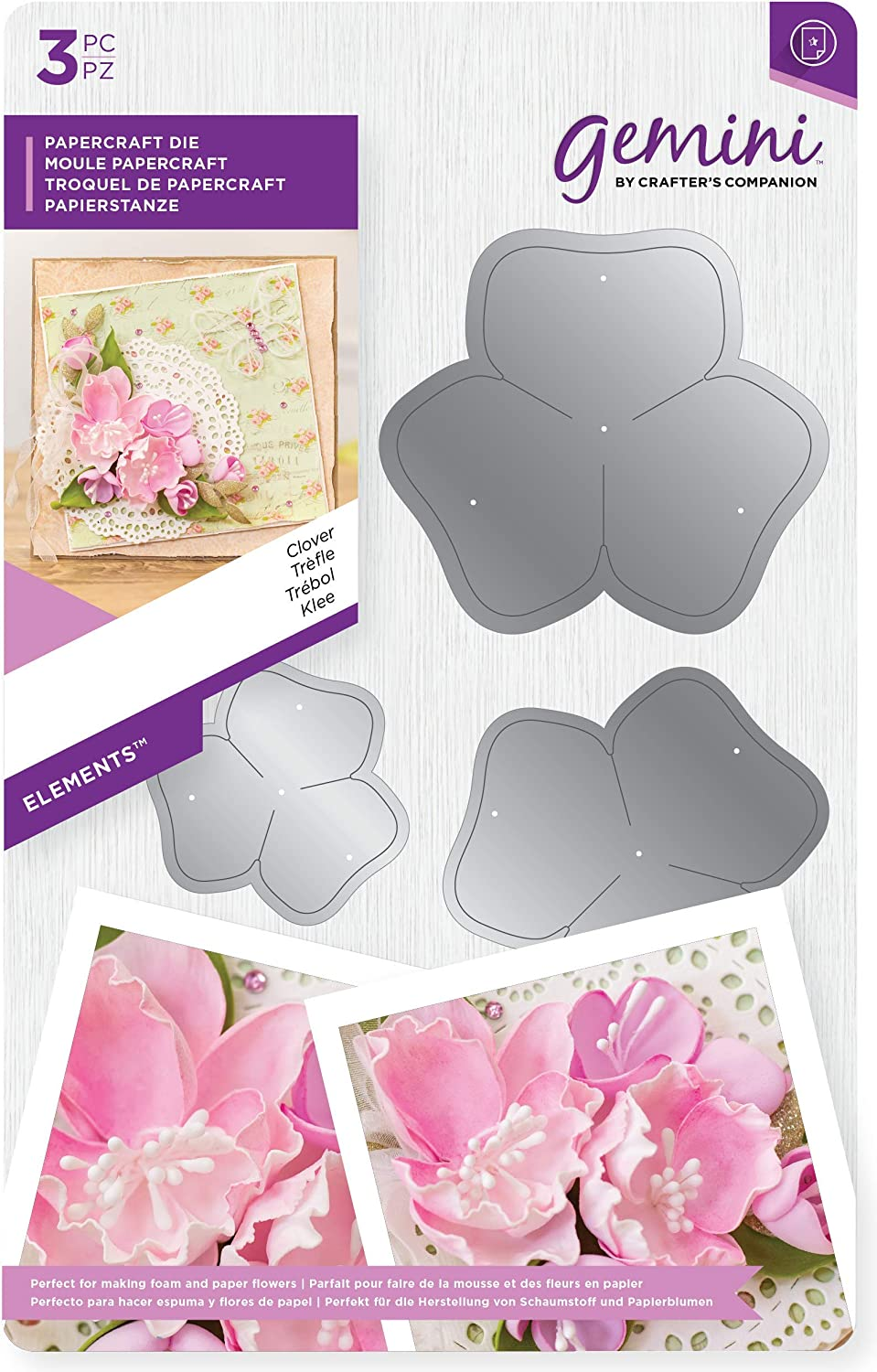 Metal One Size Multi-Colour Crafters Companion Gemini Die-Elements-Leaves /& Vines