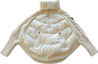 Moncler Junior - Chaqueta de punto para mujer, chaqueta de punto de tortuga, color blanco