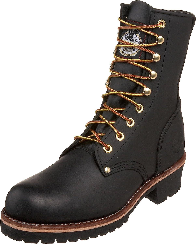 Georgia Boot Men's Logger 8  Black Non Steel-Toe Work Boot