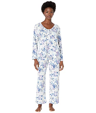 Karen Neuburger Petite Last Waltz Long Sleeve Pullover PJ (Floral Ivory) Women