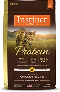 Instinct 6175882 Ultimate Protein Kibble Recipe with Real Chicken Dry Cat Food, 4lb