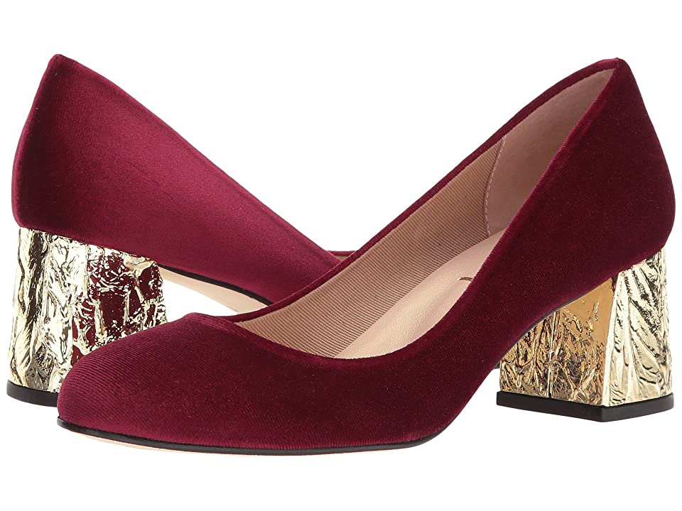 French Sole Trance-X (Ruby Red Velvet) High Heels
