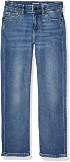 Amazon Essentials Boys Straight Denim Jeans, Doppler/Light Wash, 10