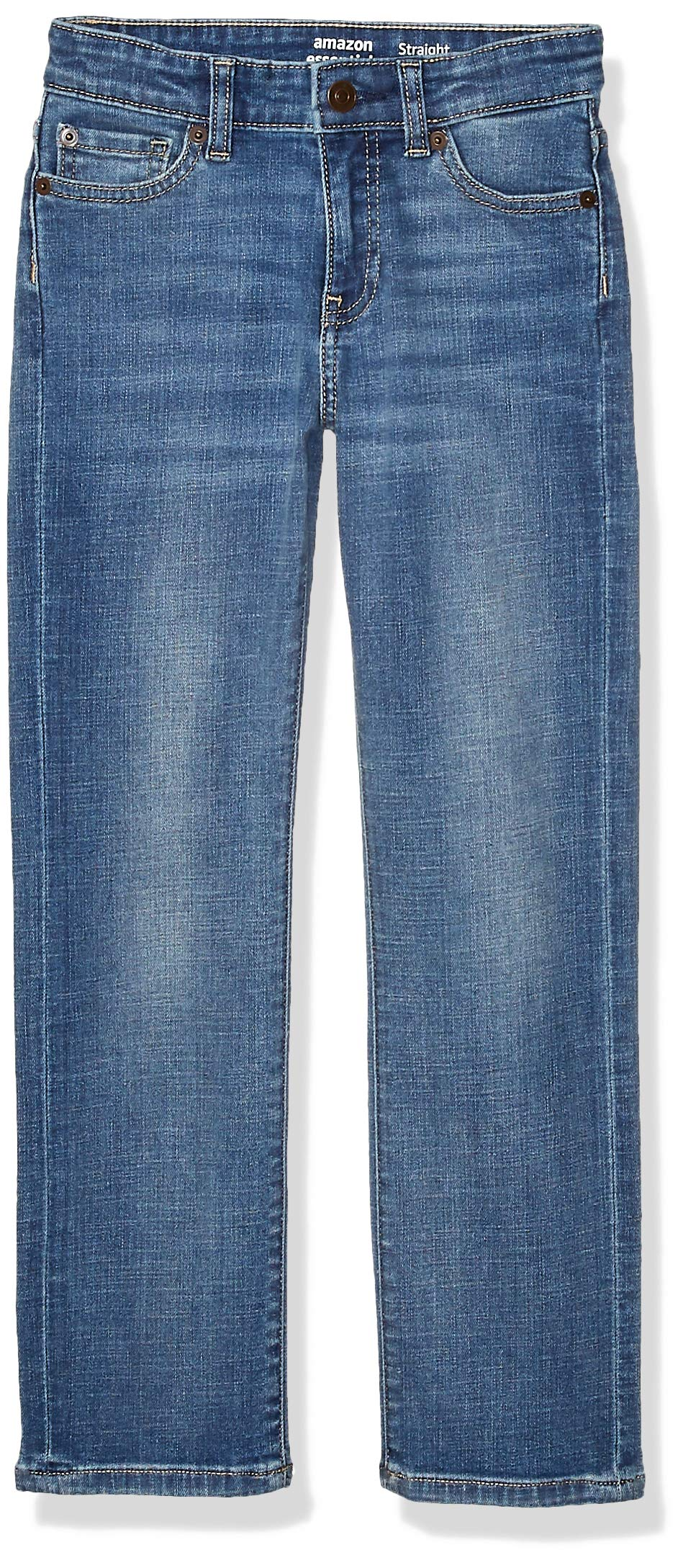 Amazon Essentials Boys' Kids Stretch Straight-fit Jeans