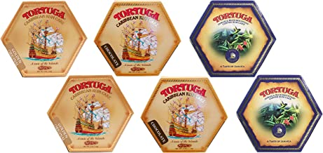 Tortuga Caribbean Rum Cake 4 oz (6 PACK): Golden Original, Blue Mountain Coffee, Chocolate