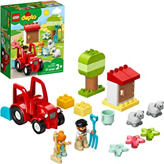 LEGO DUPLO Town Farm Tractor & Animal Care 10950 Creative Playset for Toddlers with a Toy Tractor and 2 Sheep, New 2021 (2...
