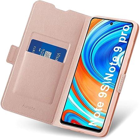 RuiPower pour Coque Xiaomi Redmi Note 9S Cuir Etui Redmi Note 9 Pro Housse Premium PU Portefeuille Magn/étique Porte Cartes Stand Fonction Coque Rabat Xiaomi Redmi Note 9S//9 Pro//9 Pro Max Marron