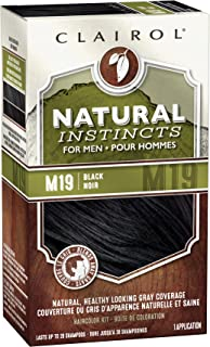 Clairol Natural Instincts Hair Color For Men M19 Black 1 Kit (Pack of 3)