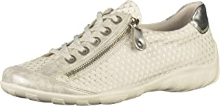 Women Lace-Up Shoes White, (ice/Weiss-Silber/ARG) R3435-82