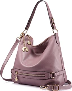 914bcead86 Genuine Leather Handbags for Women Large Designer Ladies Shoulder Bag  Bucket Style