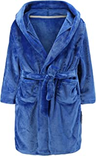 Boys Girls Bathrobes Kids Hooded Robes Plush Soft Fleece Toddler Robes Sleepwear