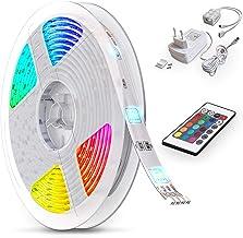 B.K.Licht LED Stripes, 5m Stripe, lint, strepen, LED strip, LED light strip, LED linten, fairy lights LED, wit, gekleurd, ...