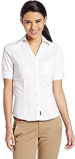بلوزة Lee Uniforms للصغار قصيرة الأكمام تمتد من قماش البوبلين