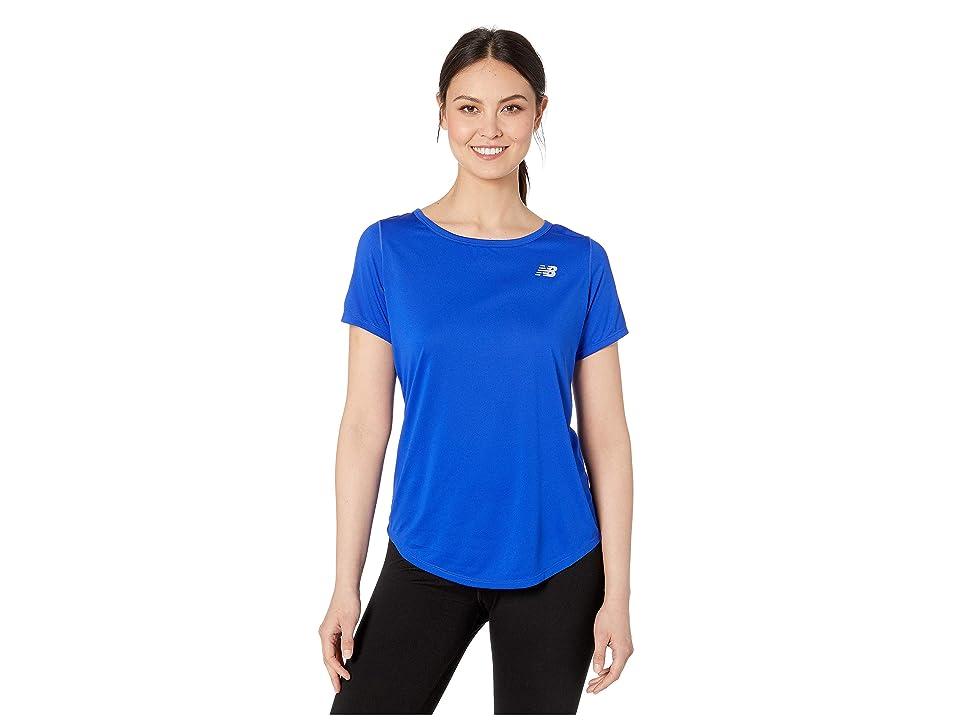 New Balance Accelerate Short Sleeve Top v2 (UV Blue) Women