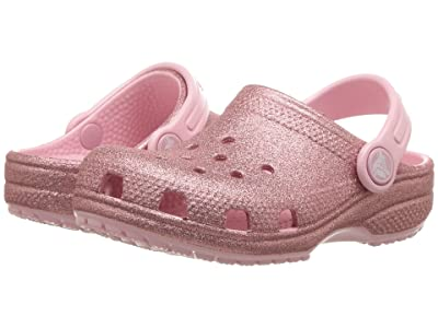 Crocs Kids Classic Glitter Clog (Toddler/Little Kid) (Blossom) Girls Shoes