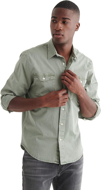 Lucky Brand Men's Long Sleeve Button Up Two Pocket Monroe Shirt